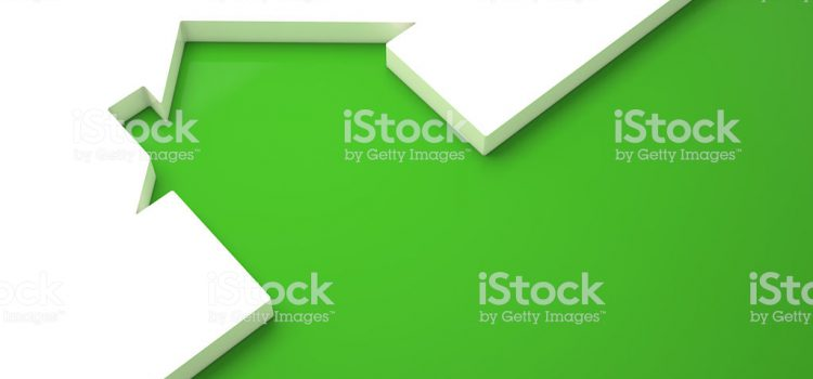 Ecologic home , green outline on white